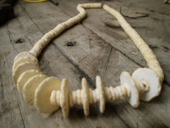 Handcrafted Ovahimba Unpolished Ostrich Shell Beads Necklace