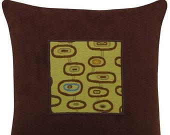 "Three Eye ""Small"" Modern Decorative Pillow 14 x 14 inches"