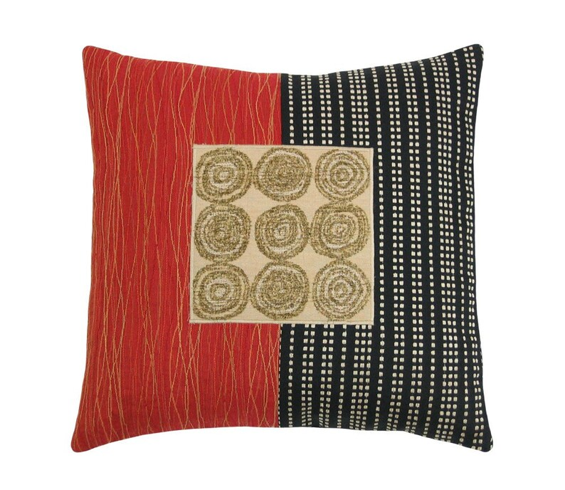 Red Alchemy Lucky 9  Modern Decorative Pillow 17 x image 0