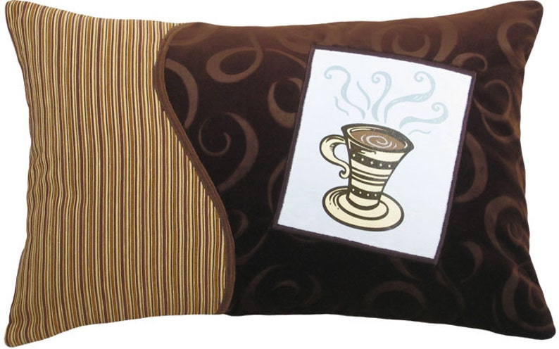 Coffee Cup Tall Decorative Breakfast Size Pillow image 0