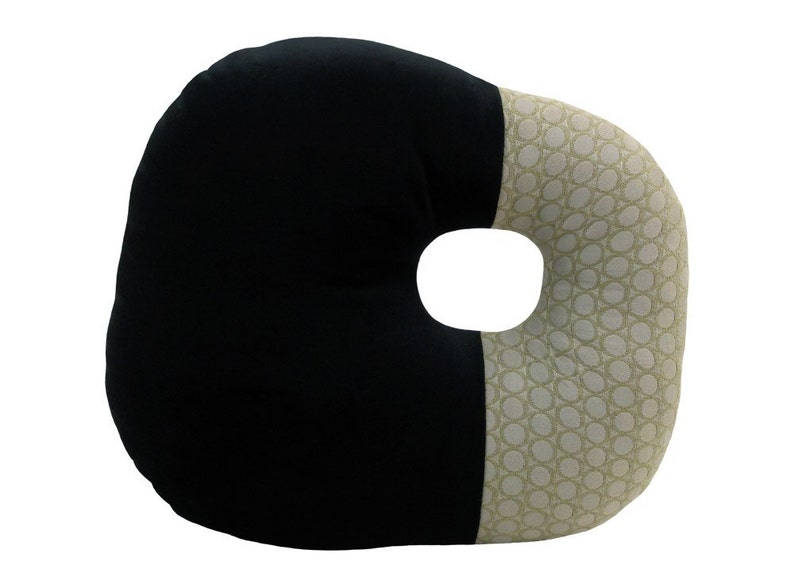 O-Block Modern Decorative Pillow Black and Grey 16 x 16 inches image 0