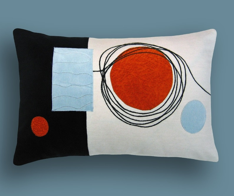 Mod Scribbles Decorative Breakfast Throw Pillow 12 x 18 inches image 0