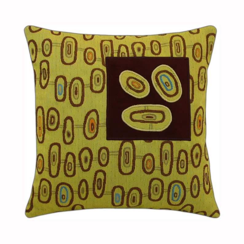 Three Eye Squared Modern Decorative Pillow 12 x 12 image 0