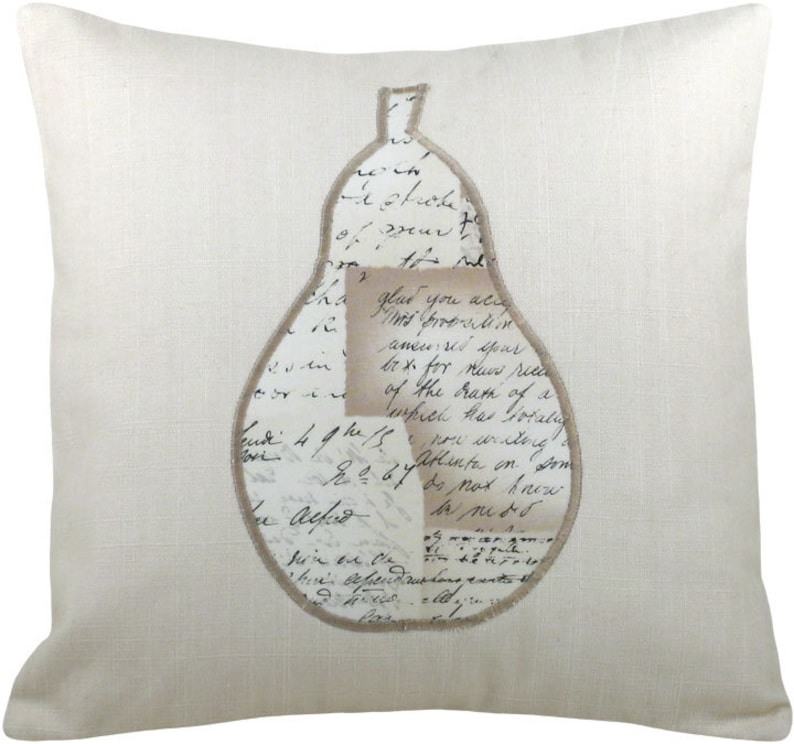 Mod Silhouette Pear Decorative Throw Pillow Mini Size 12 x 12 image 0