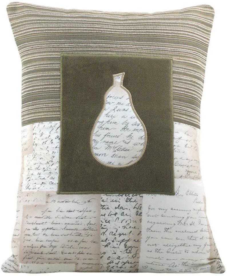 Mod Keyhole Pear Decorative Throw Pillow Boudoir Size 12 x 16 image 0