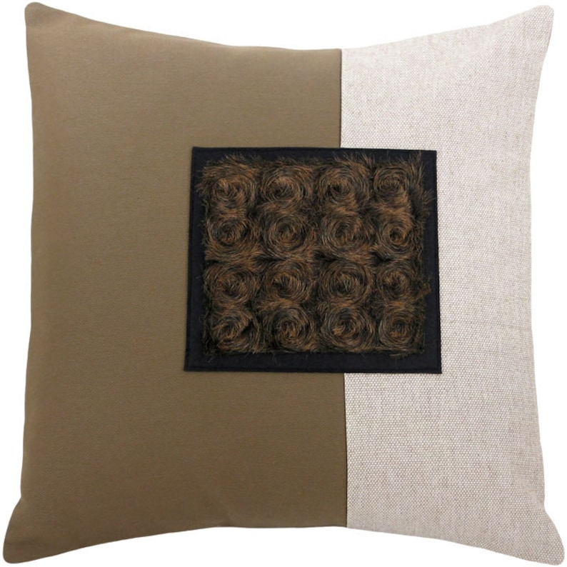 Veliarca Dark Square Classic Size Decorative Throw Pillow 16 x image 0