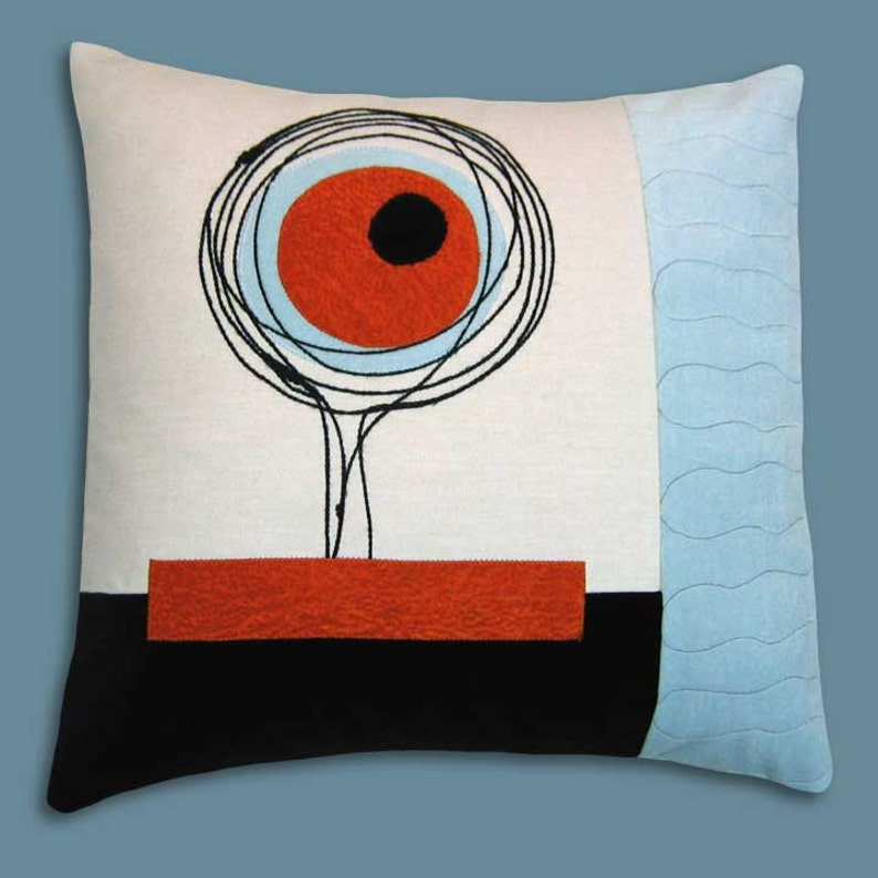 Mod Scribbles Decorative Throw Pillow 17 x 17 inches image 0