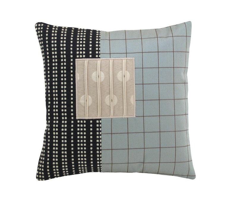 Aqua Alchemy Modern Decorative Pillow 12 x 12 inches image 0