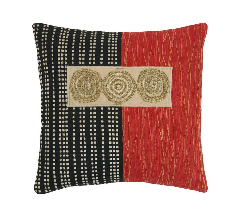 Red Alchemy 3 Circles Modern Decorative Pillow 12 image 0