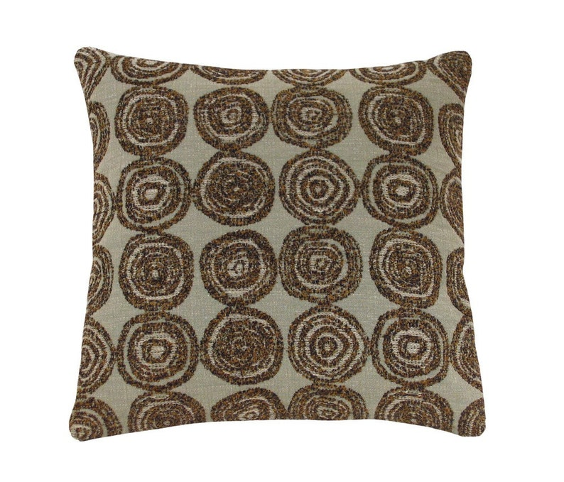 Swirl Circles Decorative Pillow 12 x 12 inches image 0