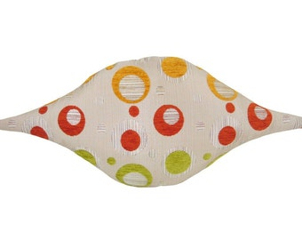 Blip Funky Shaped Modern Decorative Pillow 12 x 24 inches
