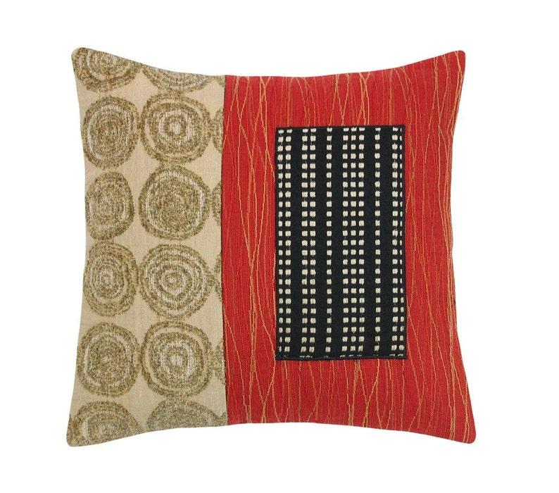 Red Alchemy Mini Modern Decorative Pillow 12 x 12 image 0