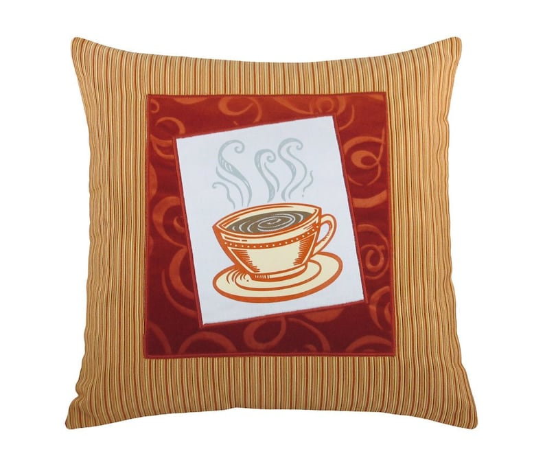 Short Coffee Cup Framed Decorative Pillow 17 x 17 image 0