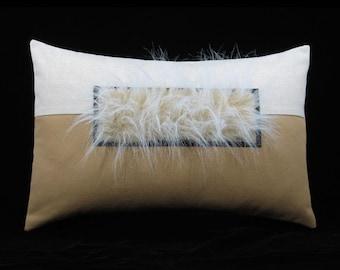 Veliarca Tan Breakfast Size Decorative Throw Pillow 11 x 17 inches