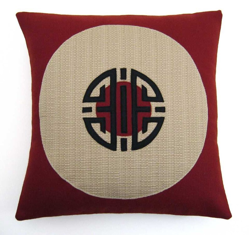 Kanji Coin Decorative Pillow 17 x 17 inches image 0