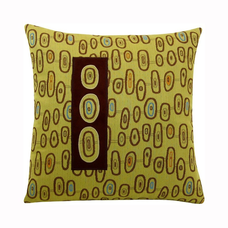 Three Eye Classic Size Modern Decorative Pillow 17 x 17 inches image 0