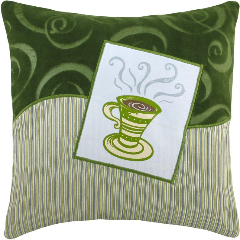 Coffee Cup Tall Decorative Pillow Mini Size 12 x image 0