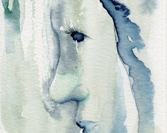 Water Nymph Painting - small watercolour original art