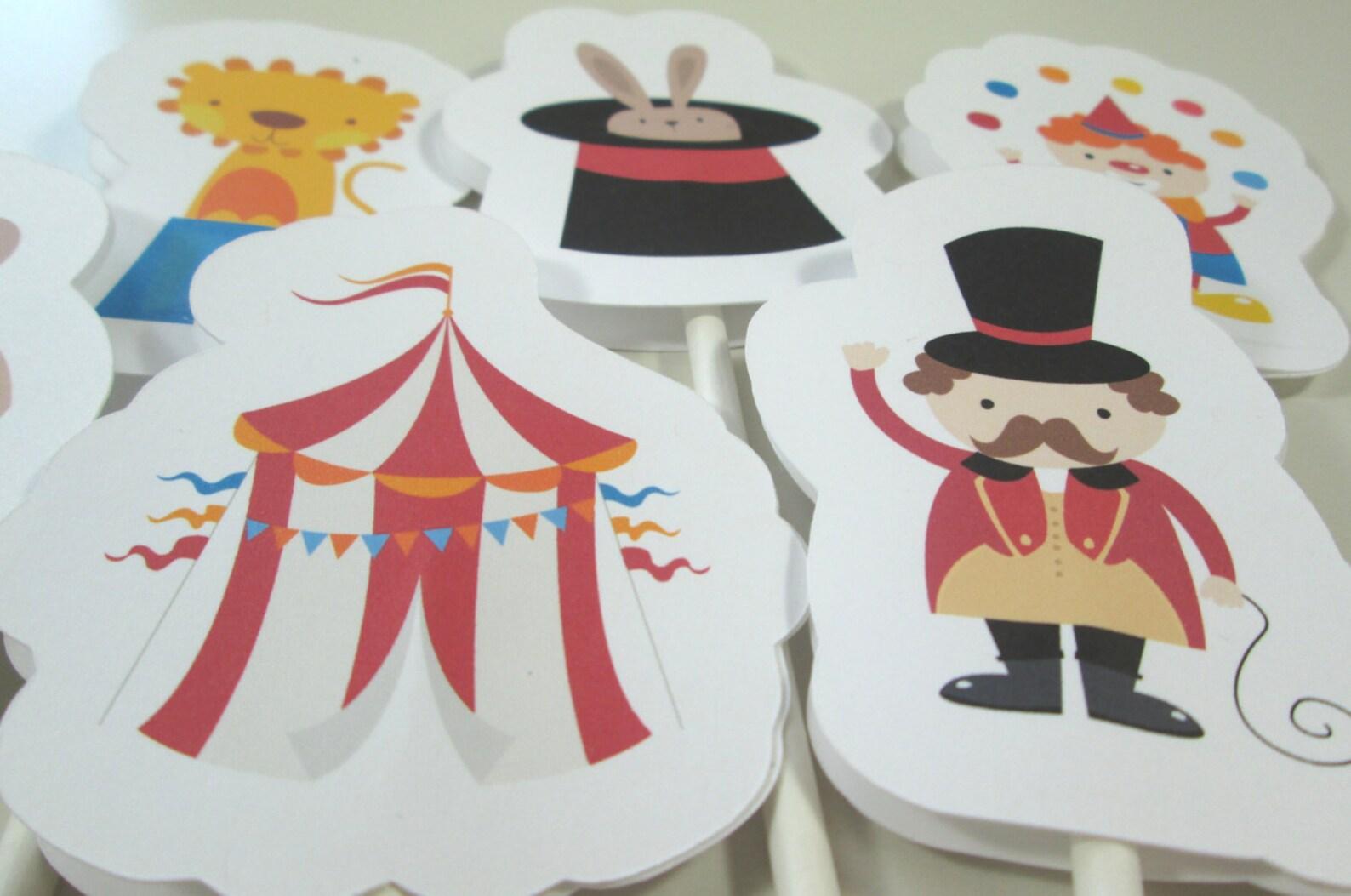 Circus Cupcake Picks Page Three