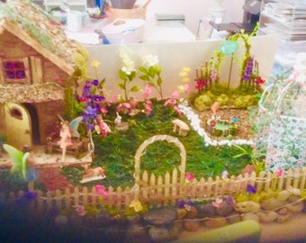 Miniature,Lighted,Fairy,House,Garden,Woodland,House,Display,FREE fairy book Pickup only