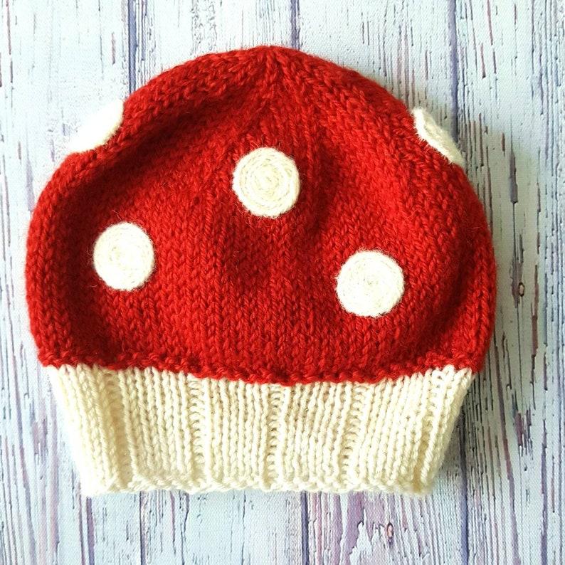 Wool Baby Mushroom Hat image 0