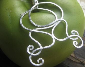 GENIE-Silver Earrings