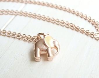 Elephant Charm Elephant Pendant 10 Pcs 14x14mm Rose Gold Elephant Charm Rose Gold Plated Findings EP ROSE38 Dainty Charms Lucky Charm