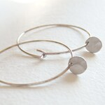 Silver Little Disc Hoop Earrings