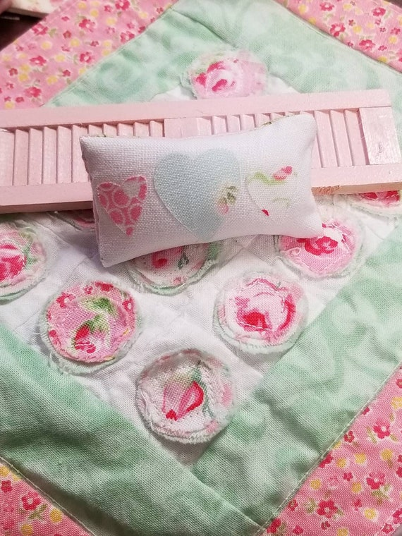 """Miniature Heart Rectangle Pillow 2 1/4"""" x 1 1/8"""""""