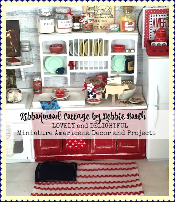Project Book - Miniature Americana Decor and Projects  24 page Ebook - Immediate Download