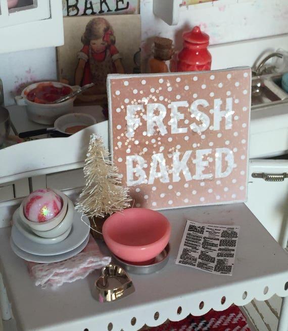 "Fresh Baked Cookie Bakery Art Canvas 2"" x 2"""