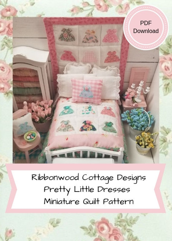 Pattern - Pretty Little Dresses Miniature Quilt PDF Download