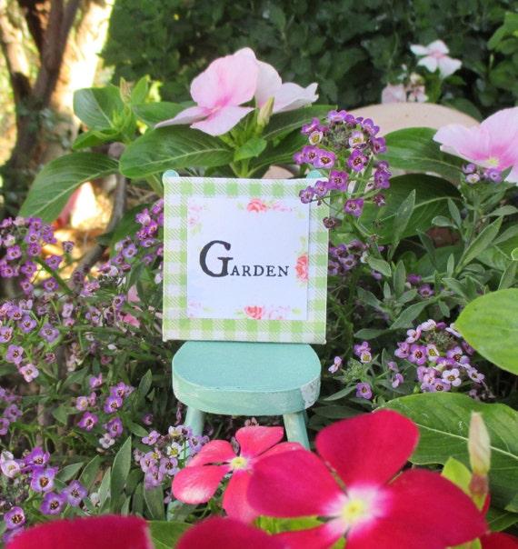 Miniature Garden Picture-Dollhouse Scale 1:12