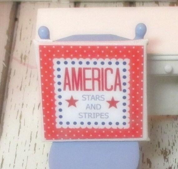 Americana Sign-1:12 Scale Dollhouse Miniature