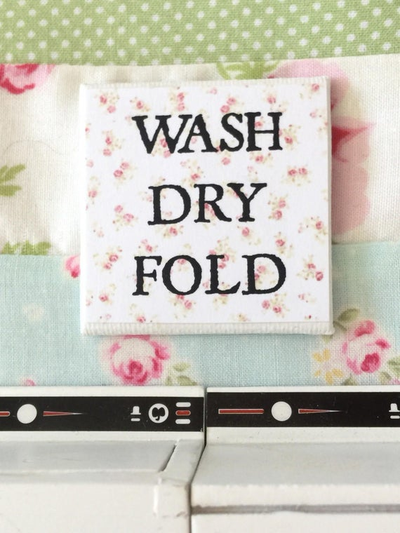 "Miniature Wash Dry Fold Canvas Laundry Art-2"" x 2"""