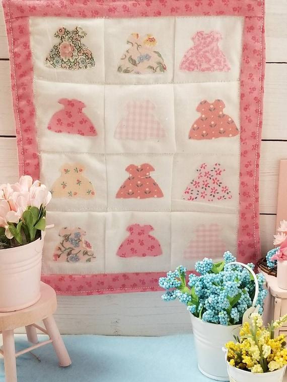 Pretty Little Dresses Miniature Quilt