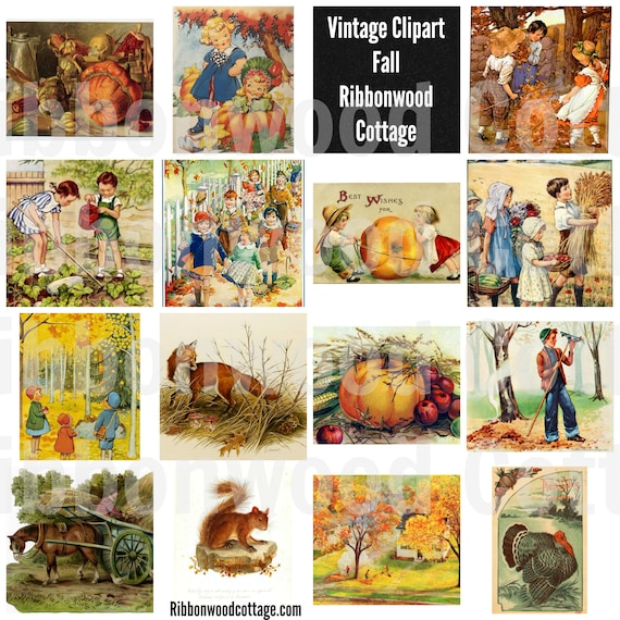 Vintage Clipart - Fall Designs