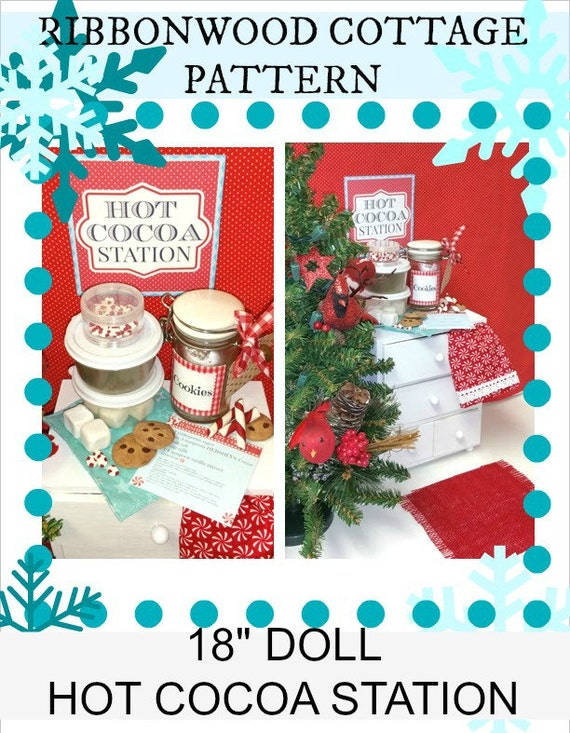 "PATTERN-Hot Cocoa Station for 18"" Dolls"