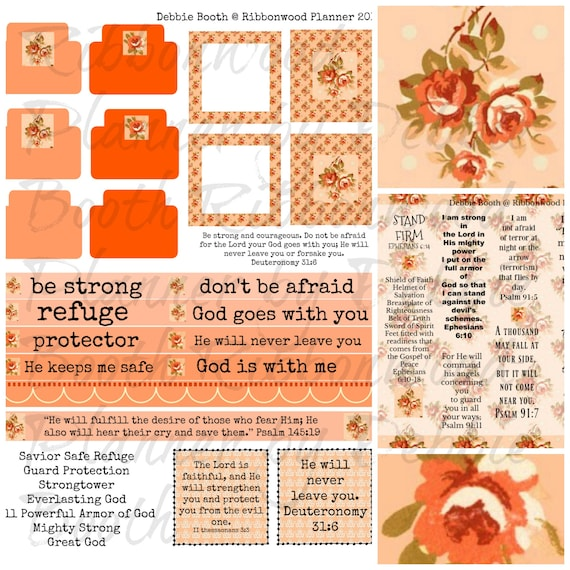 Bible Journaling Scripture Collection - Protection and Safety Digital Download