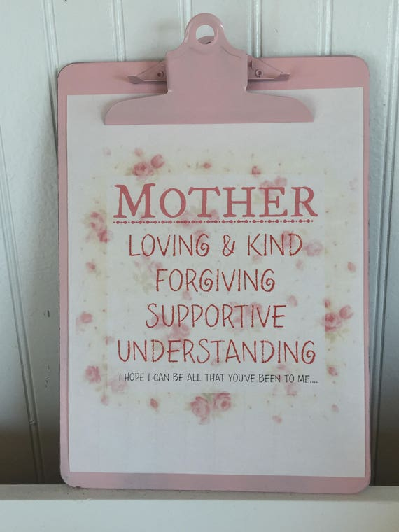 Pink and White Vintage Roses Mother's Day Printable Sign