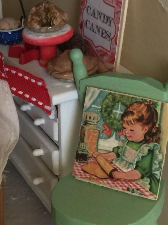 """Baking Pie- Vintage style Kitchen sign-1.5"""" x 1.5"""""""