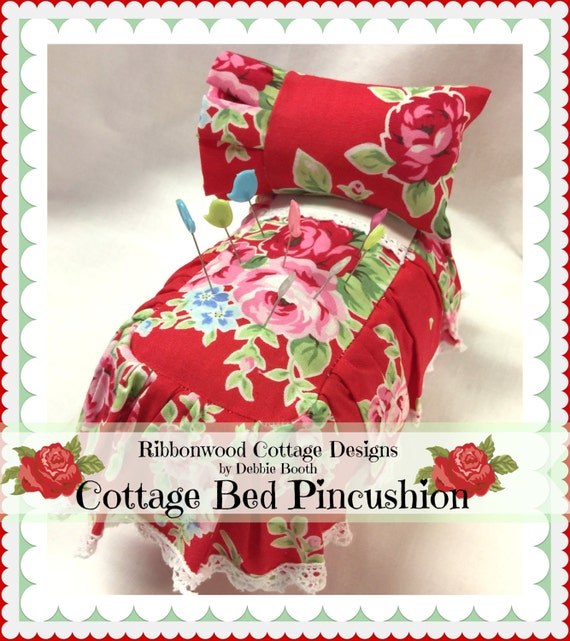 "PDF  Pincushion Cottage Bed 3"" x 5"""