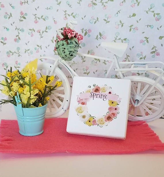 Miniature Spring Floral Picture, Canvas