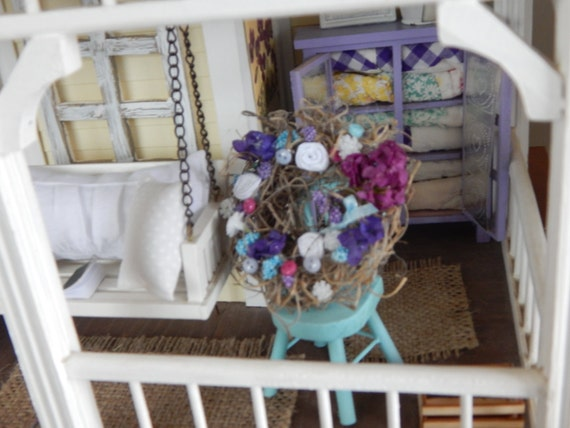 "Miniature Dollhouse Large Lavender Wreath-3"" x 3"""