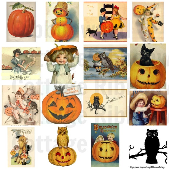 Vintage Clipart - Halloween Collection Digital