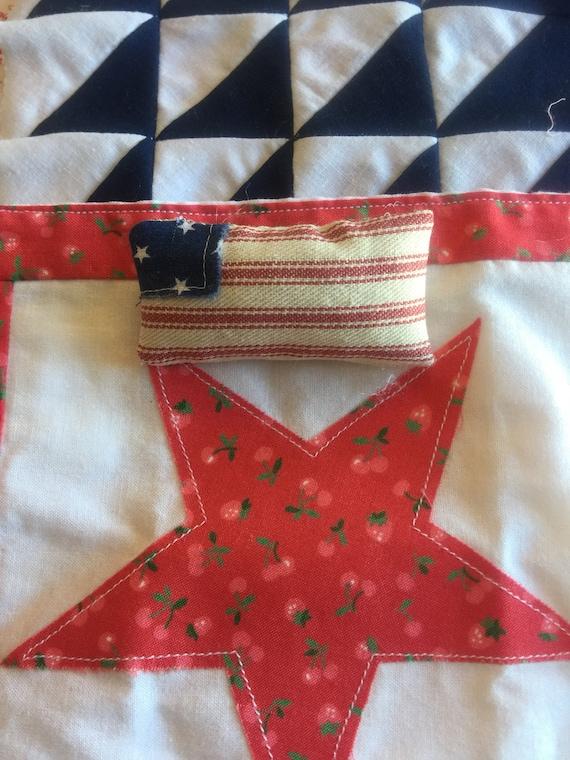 """Miniature Flag pillow 1 1/4"""" x 2 1/4"""""""