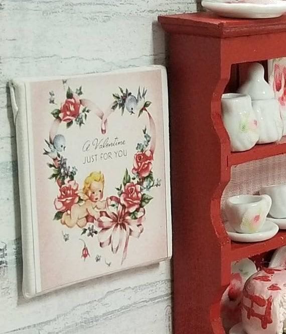"Vintage Style Valentine Canvas Art 2"" x 2"""