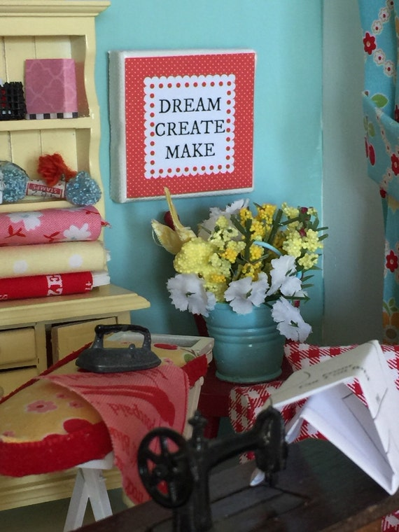 Dream Create Make- Canvas Art, Craft Room 2""