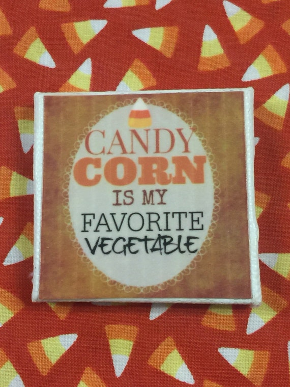 "Halloween Art Candy Corn  Canvas Art-2"" x 2"""