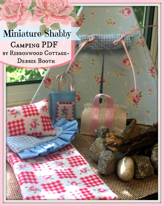 PDF Sewing Pattern Miniature Shabby Camping PDF-1:12 Miniature Dollhouse scale pattern